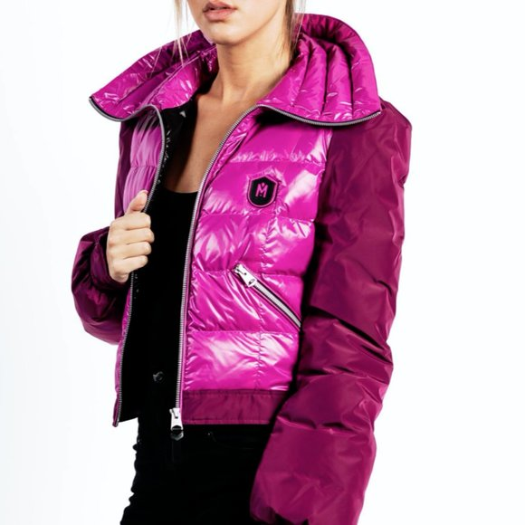 Mackage magenta short quilted puffer jacket coat S